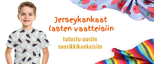 Jerseykankaat lapsille kankaita.comissa