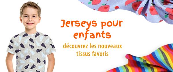 Tissus de Jersey pour les enfants sur tissus.net