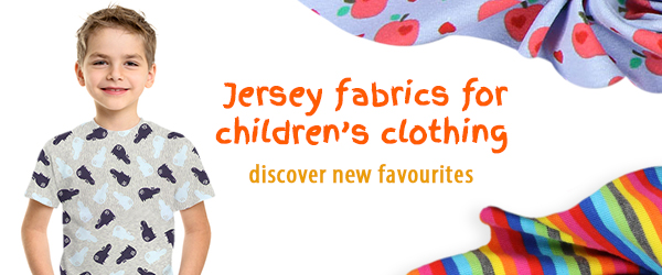 Jersey fabrics for children at myfabrics.co.uk