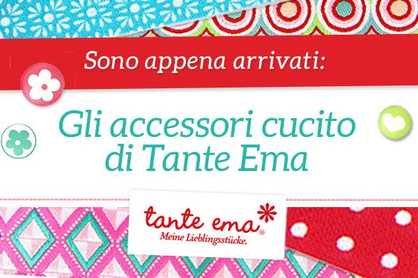 Sono appena arrivati: gli accessori cucito di Tante Ema