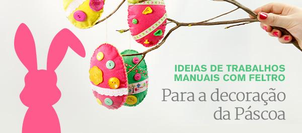 Dias de festa na tecidos.com.pt Crie as suas próprias ideias para a Páscoa a partir da nossa colorida seleção de feltro.