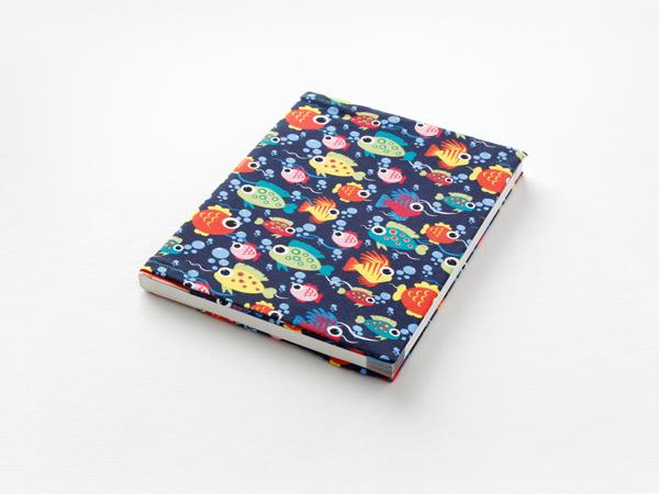 Für dein neues Buch: Buchhülle aus Stoff