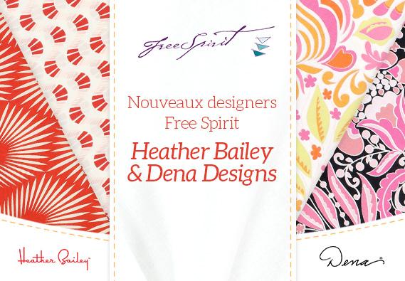 Nouveaux et exclusivement pour vous - nos nouveaux designers Free Spirit sur tissus.net