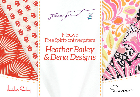 Nieuw en exclusief voor u - onze nieuwe Free Spirit-designers bij stoffen.net