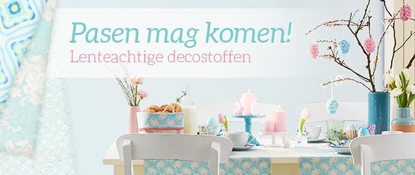 Paasdecoraties bij stoffen.net, laat u door ons assortiment inspireren
