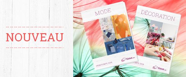 Rempli d'idées fraîches pour vous - le catalogue de printemps de tissus.net
