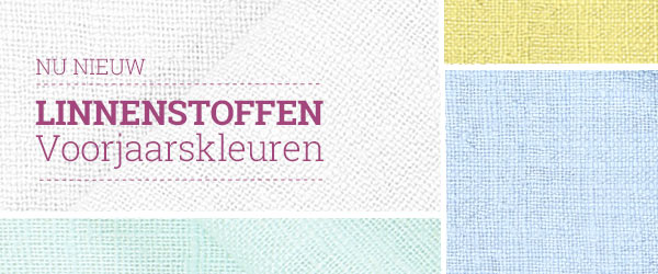 Ontdek linnen stoffen in frisse kleuren bij stoffen.net!