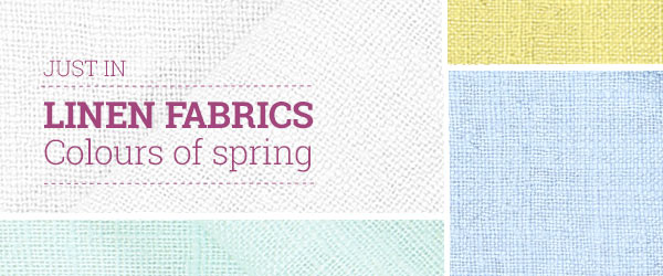 Discover linen fabrics in fresh colours at myfabrics.co.uk!