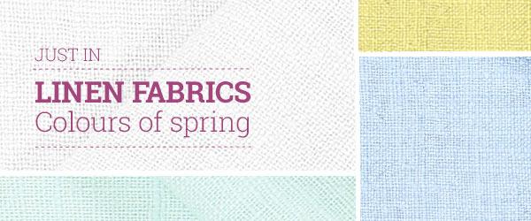 Discover linen fabrics in fresh colours at myfabrics.co.uk!