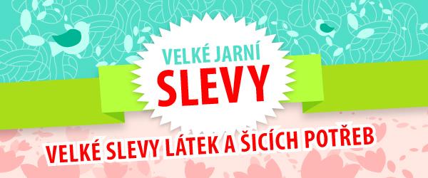 Jarní slevy na latka.cz - až 80 % sleva na látky a šicí potřeby