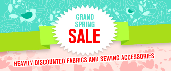 Spring Sale at myfabrics.co.uk – Discounts of up to 80% on fabrics and sewing accessories