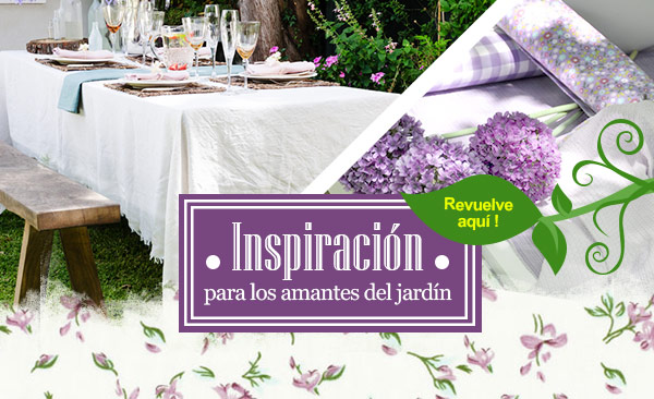 Inspiración para los amantes del jardín, el mundo del jardín en telas.es
