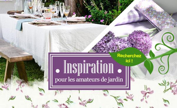 Inspiration pour les amateurs de jardin - l'univers du jardin sur tissus.net