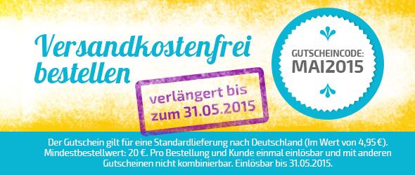 Jetzt noch länger sparen - versandkostenfrei bestellen bei stoffe.de bis zum 31. Mai