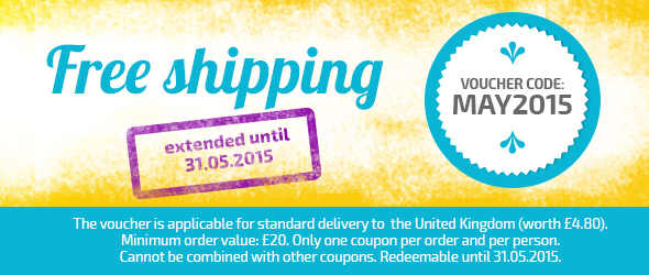 Now save for longer - order shipping-free at myfabrics.co.uk until 31st May.