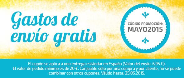 Ahorra en mayo, gastos de envío gratuitos en telas.es