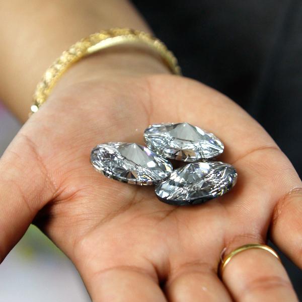 Glasknopf Swarovski Crystal