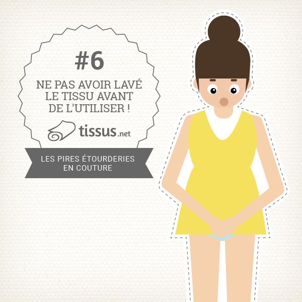 Les 10 ratages en couture : Ne pas avoir lavé le tissu avant de l'utiliser ! – tissus.net vous donne des conseils pour les éviter