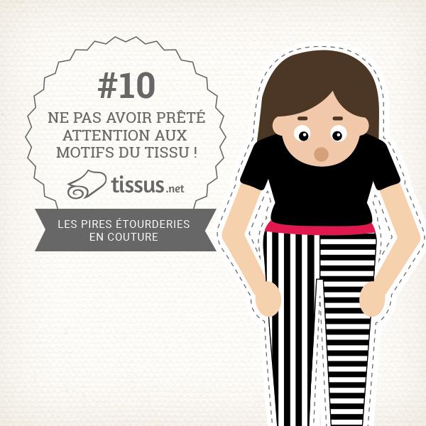 Les 10 ratages en couture : Avoir utilisé un patron de couture trop petit – tissus.net vous donne des conseils pour les éviter