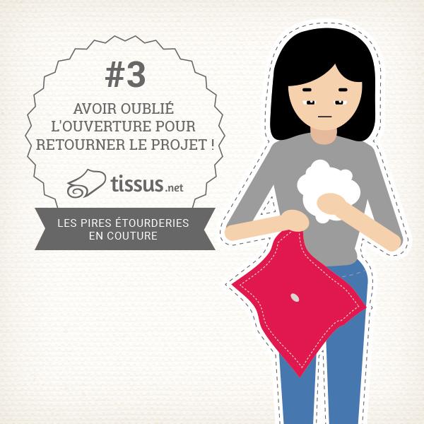 Les 10 ratages en couture : Avoir oublié l'ouverture pour retourner le projet !– tissus.net vous donne des conseils pour les éviter