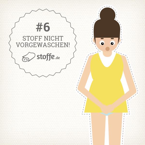 Die 10 schlimmsten Nähpannen: Stoff nicht vorgewaschen– stoffe.de erklärt dir Tipps und Tricks zum Vermeiden