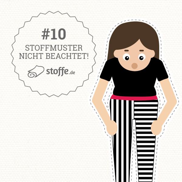 Die 10 schlimmsten Nähpannen: Stoffmuster nicht beachtet – stoffe.de erklärt dir Tipps und Tricks zum Vermeiden