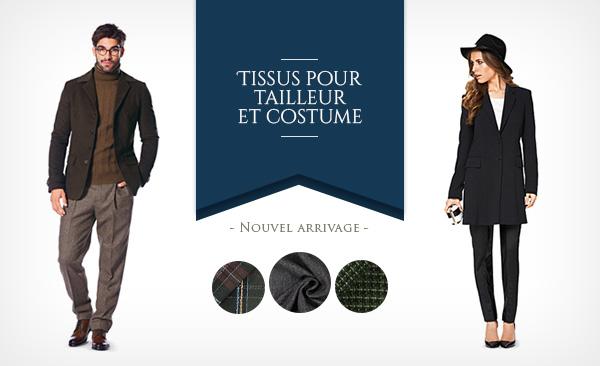 Superbe gamme de tissus de tailleurs sur tissus.net