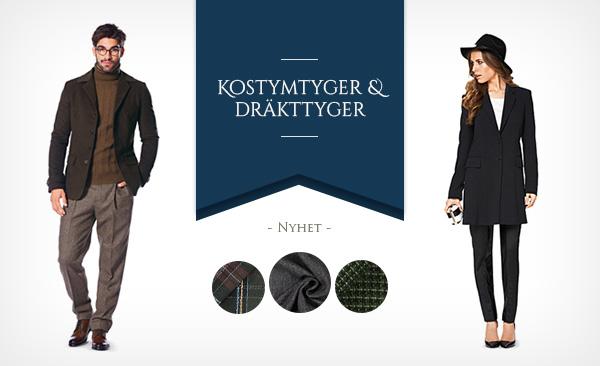 Fint sortiment av kostymtyger på tyg.se.