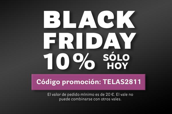 Black Friday telas.es- sólo hoy 10 %