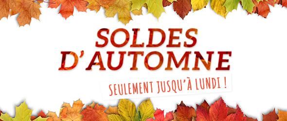 Seulement jusqu'au 10/11. Profitez des petites affaires ! Soldes d'automne sur tissus.net