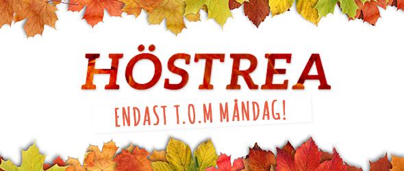 Endast t.o.m 10 november! Säkra fynden! Höstrea på tyg.se