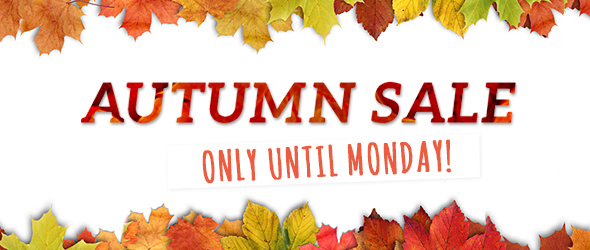 Only until 10th November Grab yourself a bargain! Autumn Sale at myfabrics.co.uk