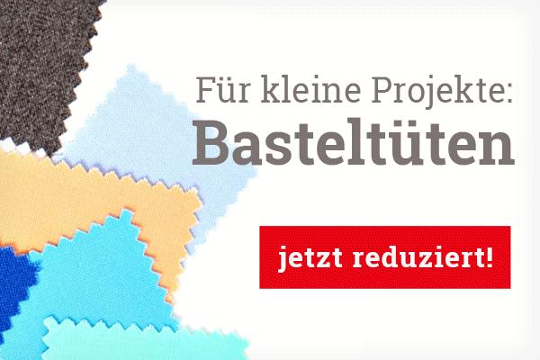 Für Applikationen und kleine Projekte: Basteltüten mit Stoffstücken bei stoffe.de