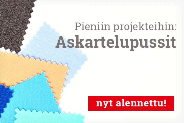 Applikaatioihin ja pieniin projekteihin: Askartelupussit kangaspaloilla kankaita.comissa