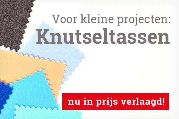Voor applicaties en kleine projecten: knutseltassen met stukken stof bij stoffen.net