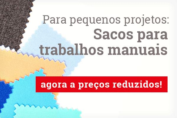 Para aplicações e pequenos projetos: Sacos para trabalhos manuais e restos de tecidos na tecidos.com.pt