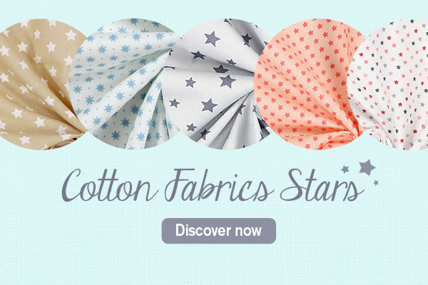 Such a wide selection – cotton fabrics with star motifs at myfabrics.co.uk