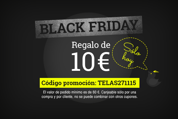 Busca, compra, ahorra, 10€ de descuento, sólo hoy durante el Black Friday 2015
