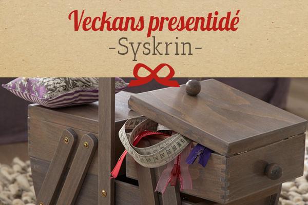 Tyg.se rekommenderar: syskrin som presentidé