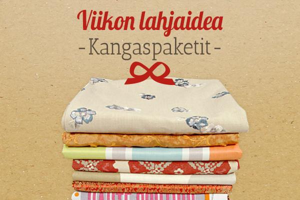 kankaita.comin suositus: Kangaspaketit lahjaideana