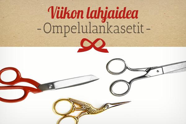 kankaita.comin suositus: Sakset lahjaideana