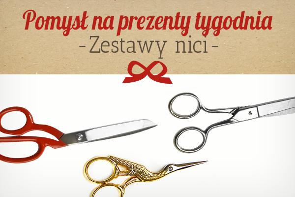 Sklep tkaniny.net poleca: nożyczki na prezent