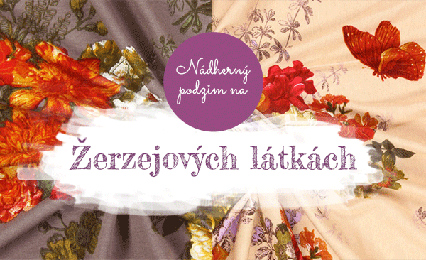 Žerzejové látky v podzimních barvách - samozřejmě na latka.cz
