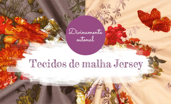 Para o outono e inverno - modernos tecidos de malha Jersey