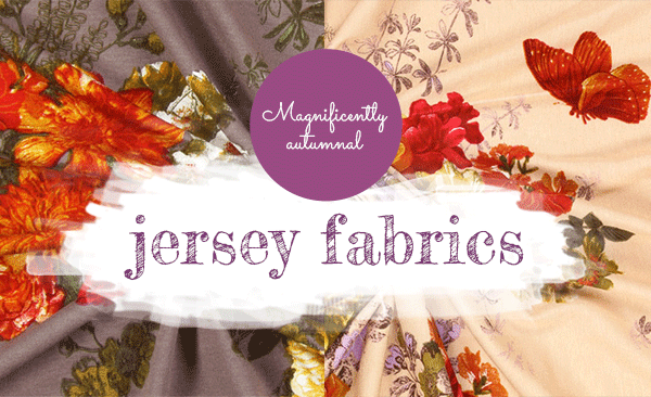 For autumn and winter – fashionable jersey fabrics