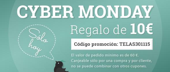 10€ de descuento para ti en el Cyber Monday, ¡pide tu tela favorita ahora o nunca!