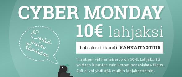 10 € alennus sinulle Cyber-maanantaina - tilaa lempikankaasi nyt tai ei koskaan!