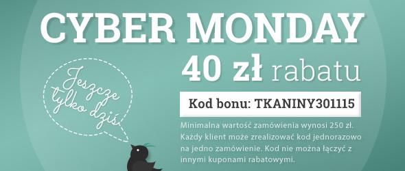 40 zł rabatu dla Ciebie w Cyber Poniedziałek: zamów wybraną tkaninę – teraz albo nigdy!