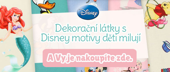 Pro fanoušky filmů z dílny společnosti Disney: Dekorační látky s Disney motivy
