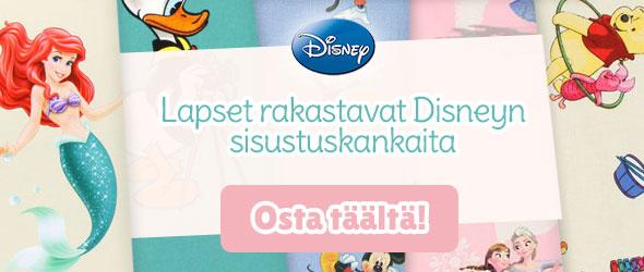 Disney-elokuvien faneille: Sisustuskankaat Disney-aiheilla